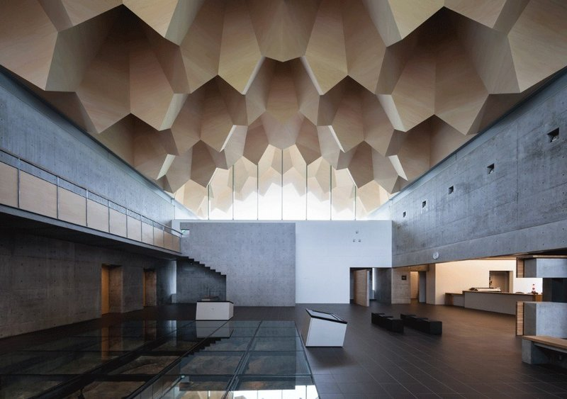 Miyahata Jomon Museum, Пример необычной современной японской архитектуры.