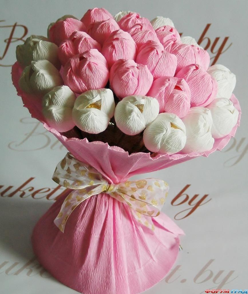 Букет цветов из бумажных цветов своими руками фото 313