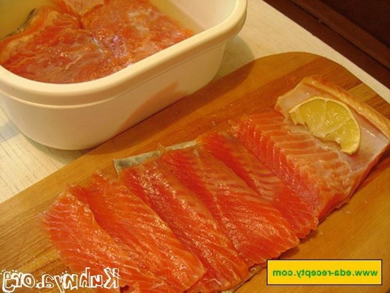 рецепт быстрой засолки красной рыбы в домашних условиях с фото горбуша