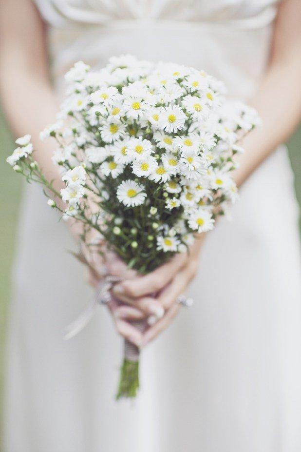 Цветов, свадебный букет невесты из ромашек фото