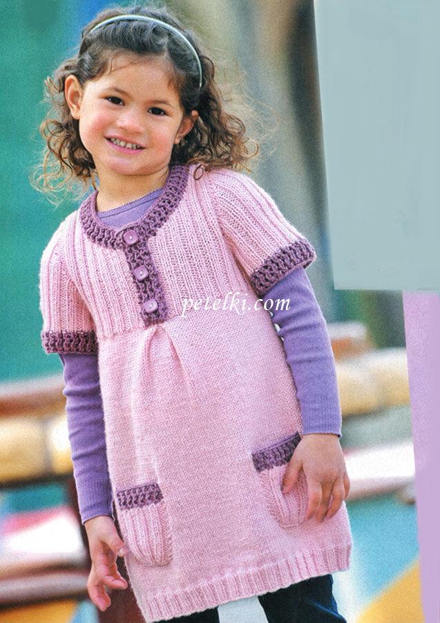 Вязание платья и туники для девочек 645