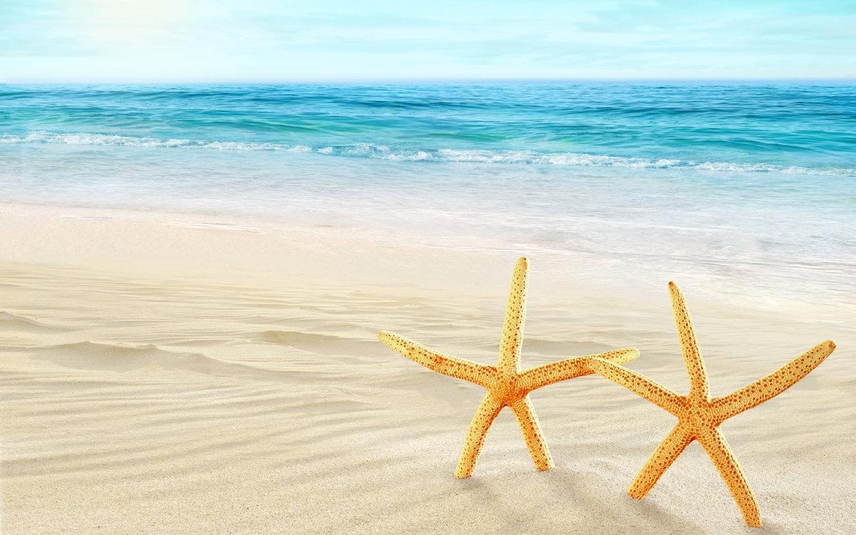Фитнес, открытка лето море