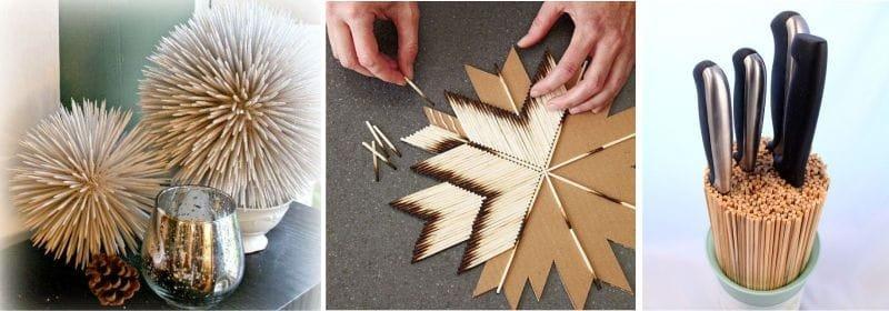 Кухонные поделки своими руками - 100 лучших идей и инструкций (ФОТО) зубочистки, шпажки,спички, поделки для кухни