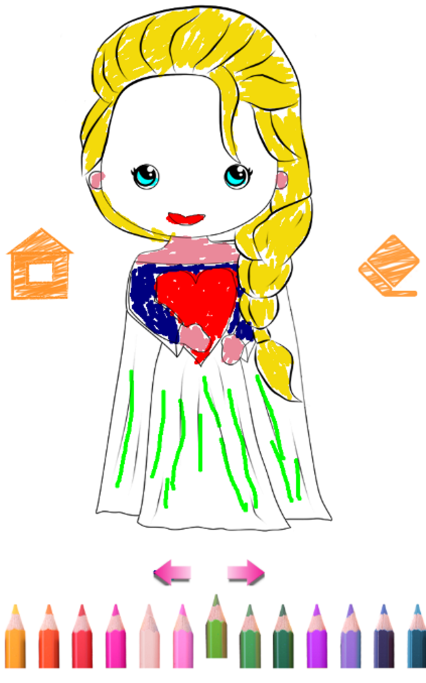 Принцессы раскраски для девочек детская образовательная ...