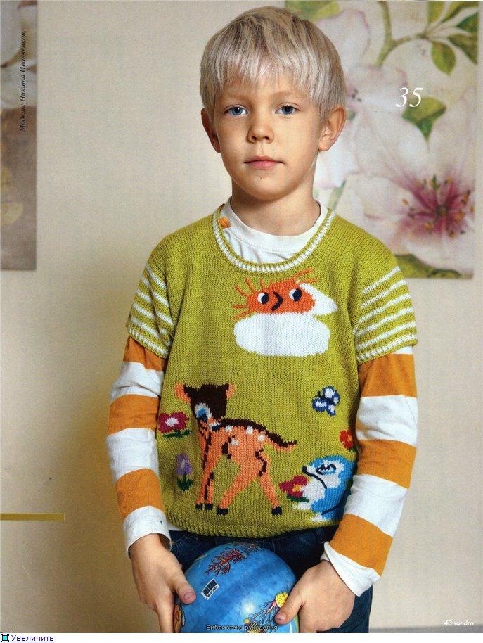 Вязание детских пуловеров с картинками