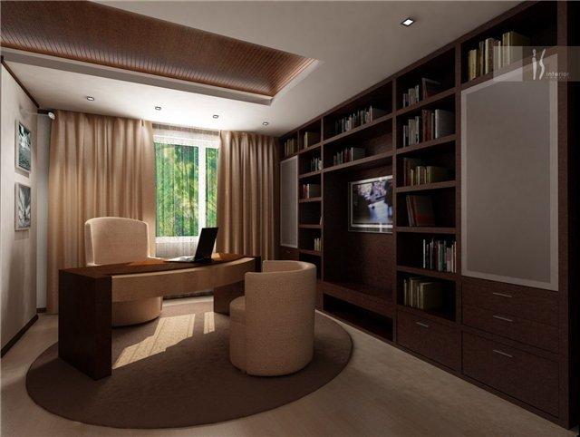 дизайн домашнего кабинета в современном стиле