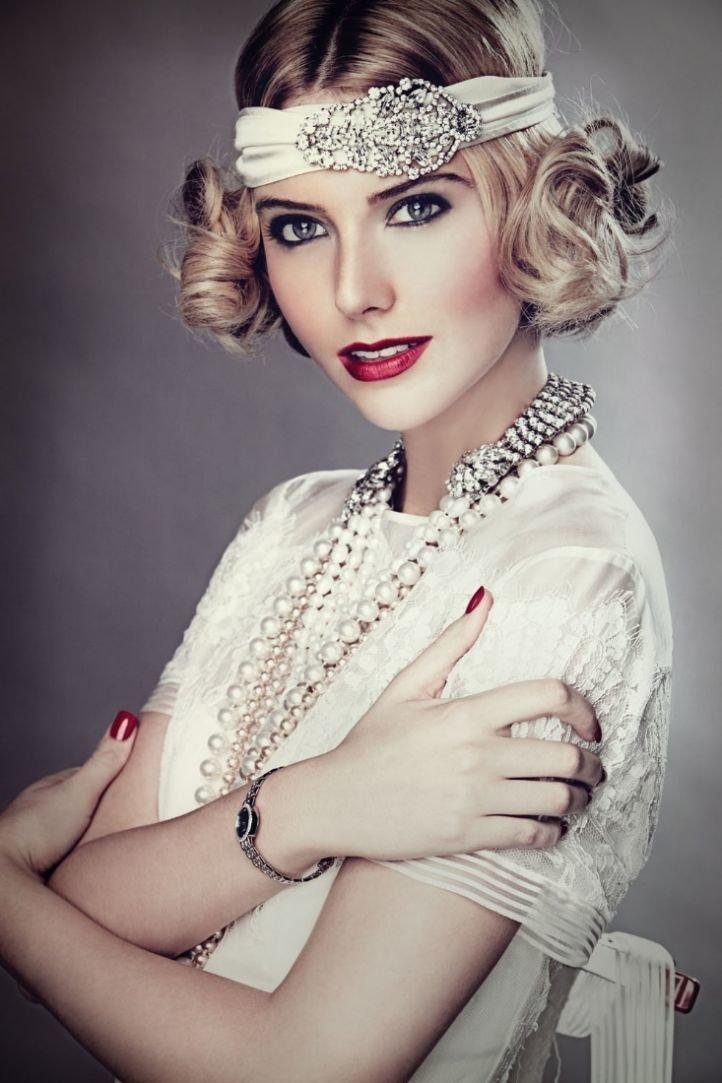 Макияж классический   с красной помадой - милый макияж в стиле чикаго 30-х годов