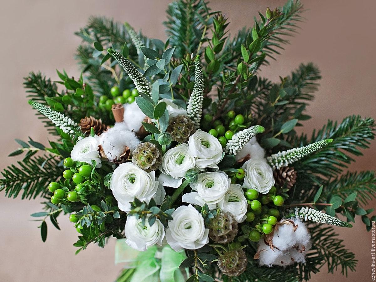 Зимние букеты цветов фото красивые, быстрая
