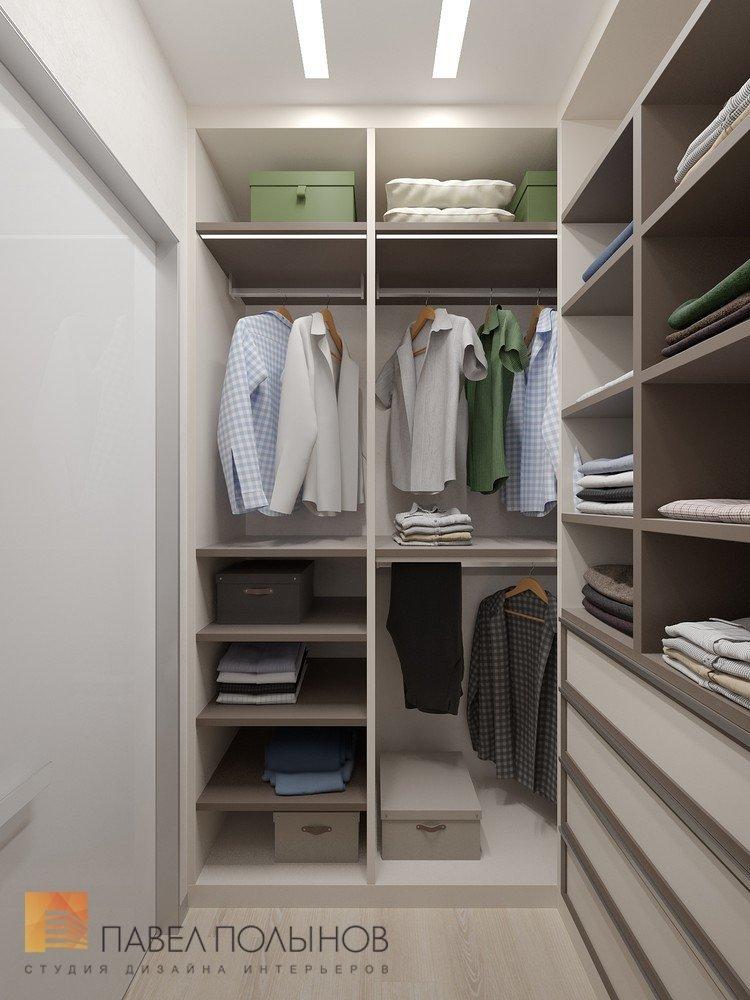 "Гардеробная комната в проекте ""интерьер квартиры в современн."