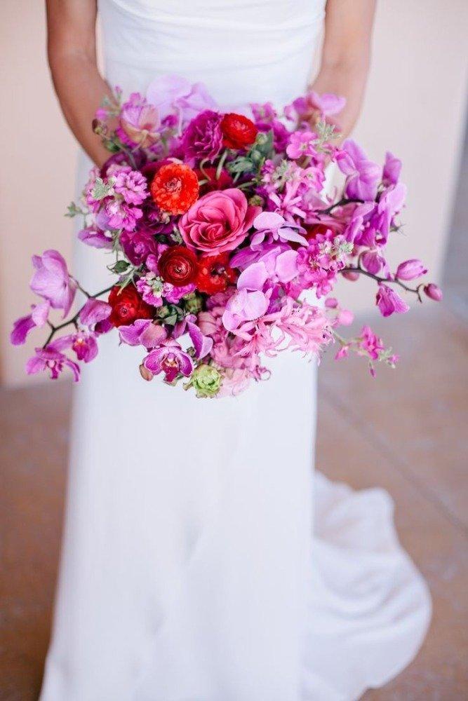 Букет невесты флоксов фото