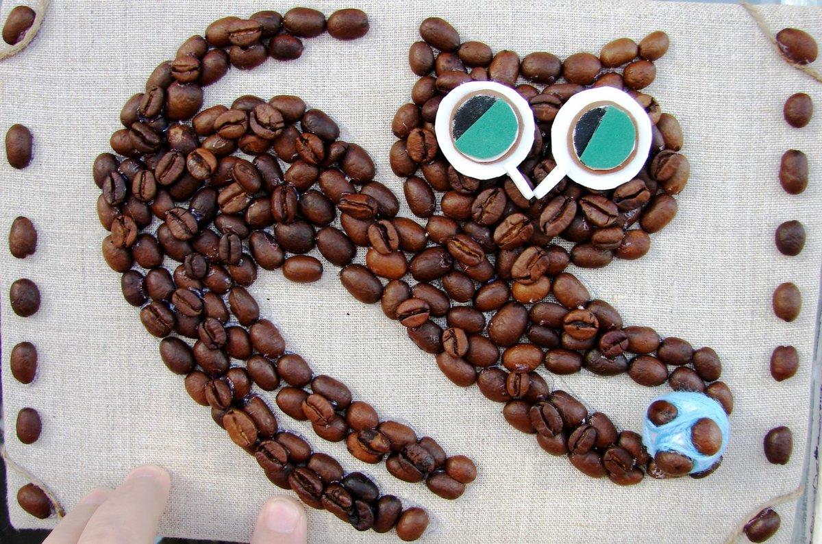действительно изделия из кофейных зерен фото рисунок