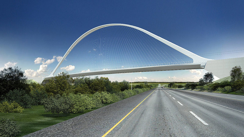 Проект моста в Денвере, часть программы South Terminal Redevelopment для международного аэропорта в Денвере (DIA). 2016