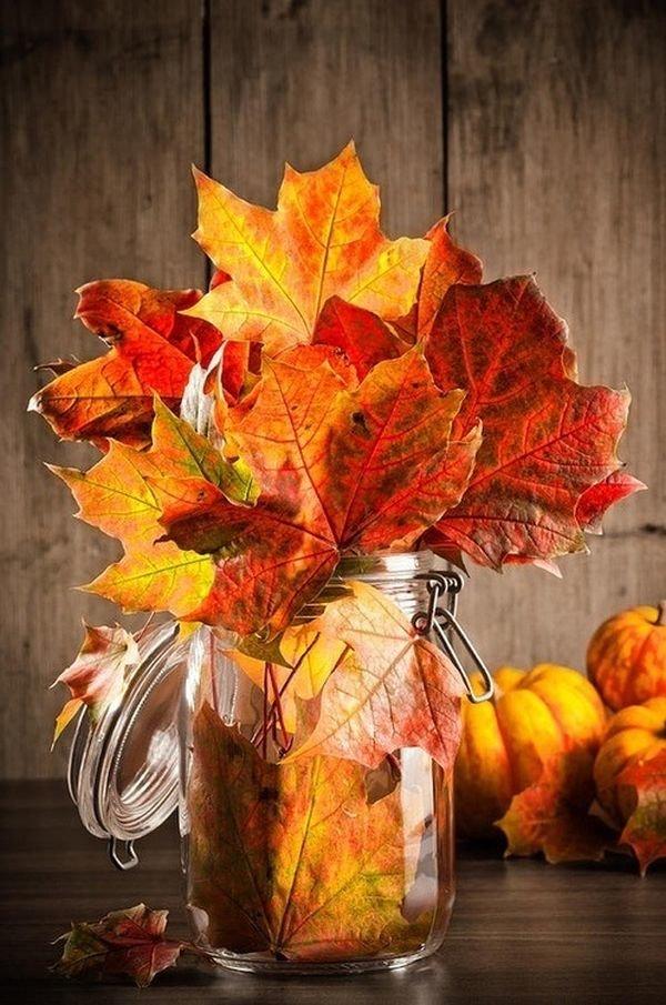 Яркие и красочные осенние листья приходят на смену букетам свежих летних цветов.