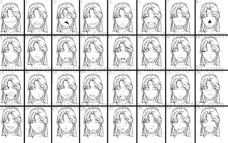 anime faces expressions