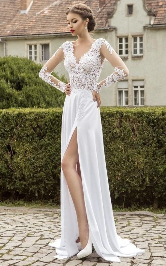 картинки белое платье
