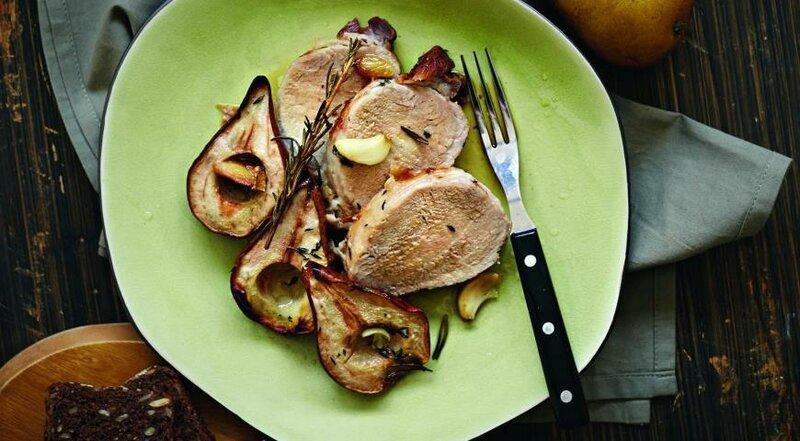 Жареная свинина с грушей  Кулинарные рецепты любящей жены