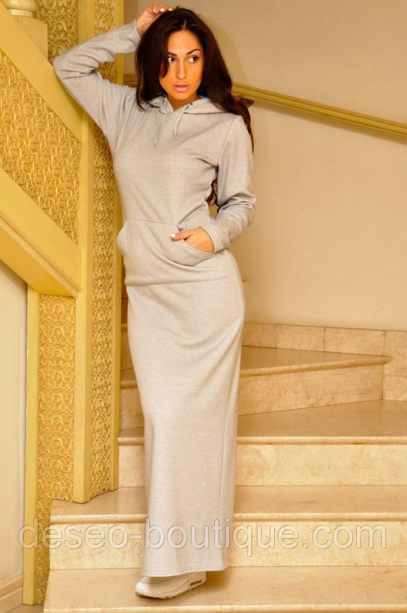 Платье с капюшоном женское