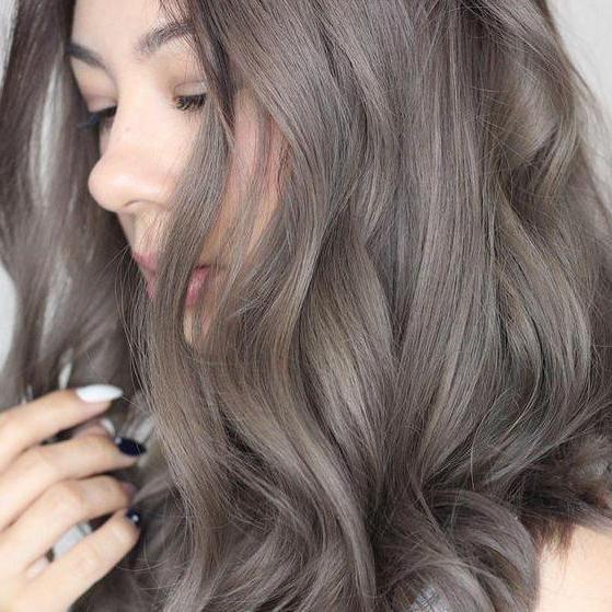 Натуральный волос пепельный цвет волос фото