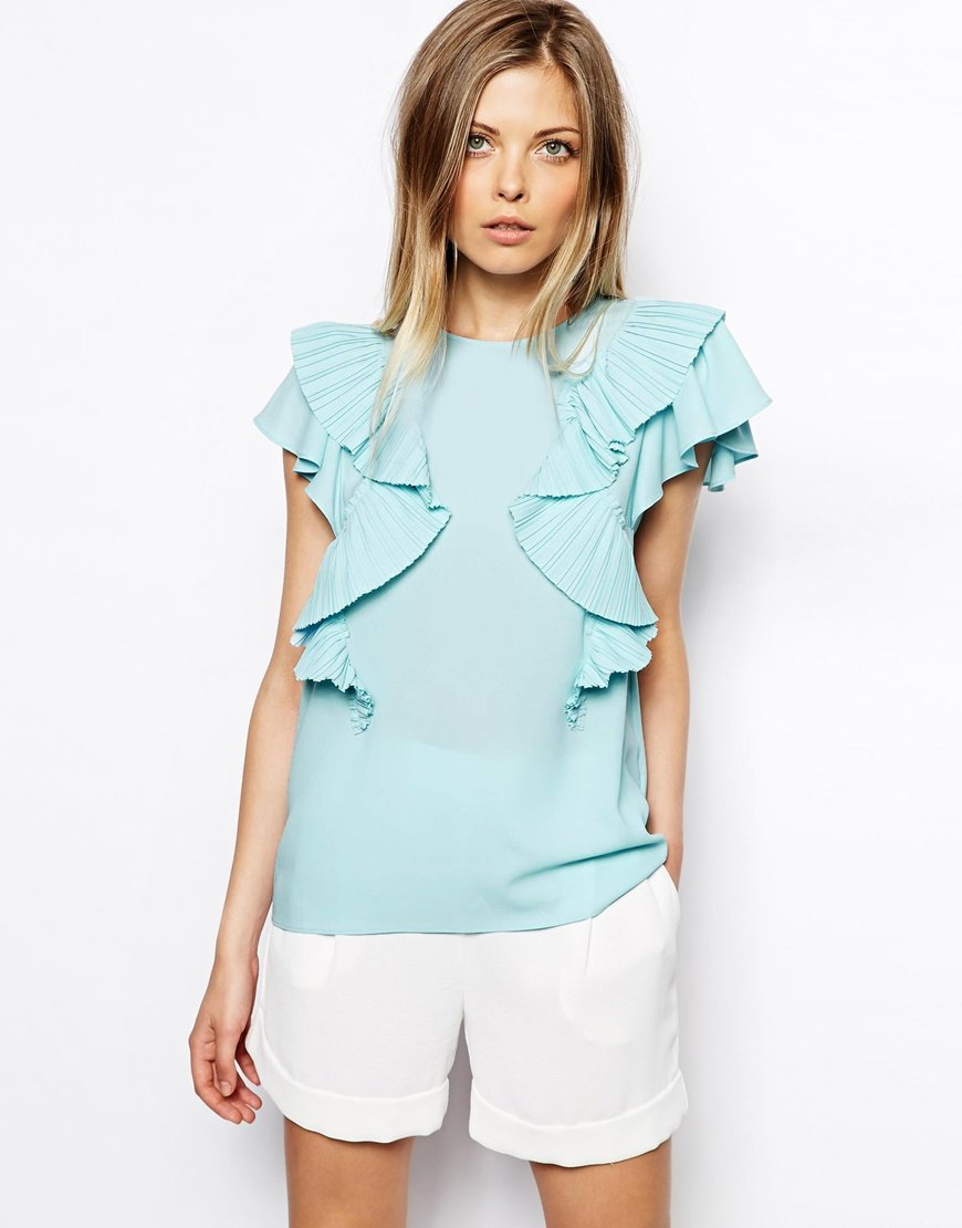 конструкция блуза с крылышками на одном плече фото образом, каждым