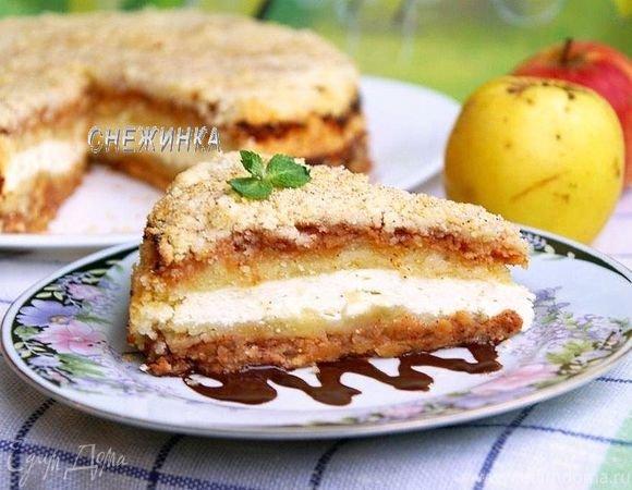 яблочный пирог с творогом рецепт-хв7