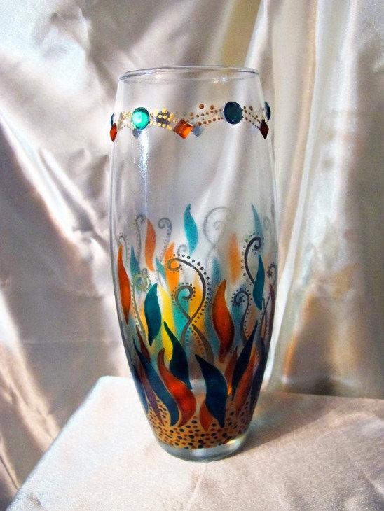 Как раскрасить вазу своими руками акриловыми красками