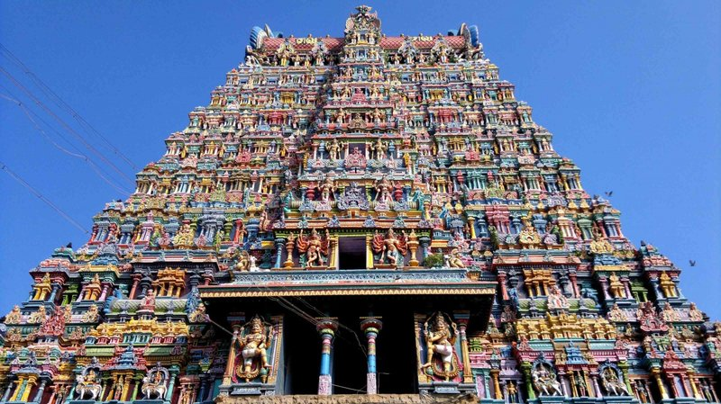 Храм Минакши расположен в городе Мадурай штата Тамиланд