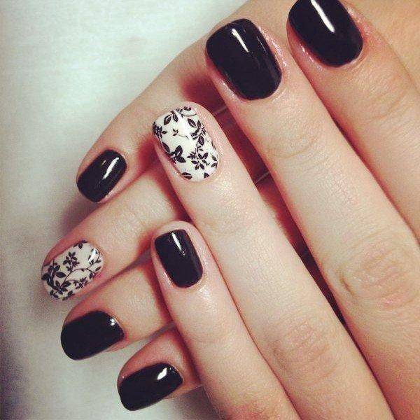 Черно-белый маникюр фото идей дизайна ногтей best маникюр.