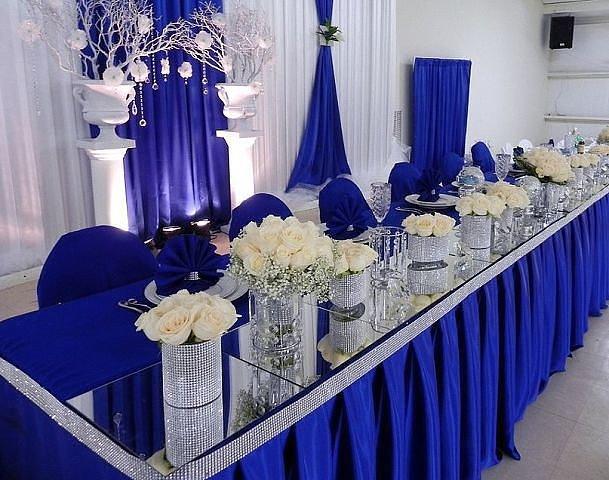 Синие свадебные платья фото невест в нарядах бело-синего 86