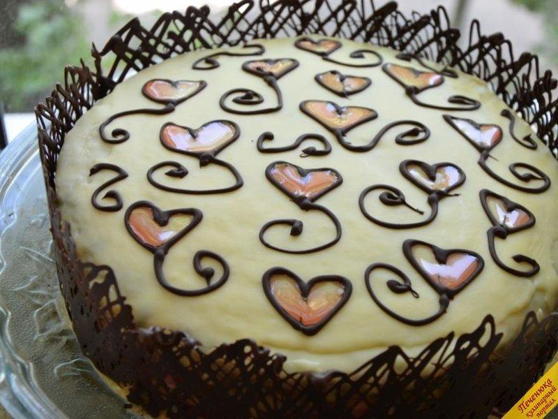 торт клубничный поцелуй с фото