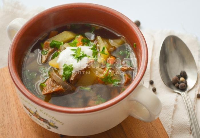 рецепт супа с сушеными грибами