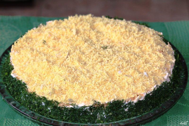 мимоза с рисом рецепт с фото
