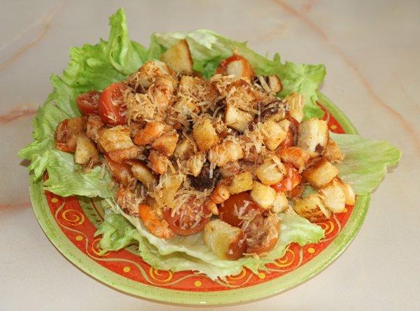 Фото салат из королевских креветок