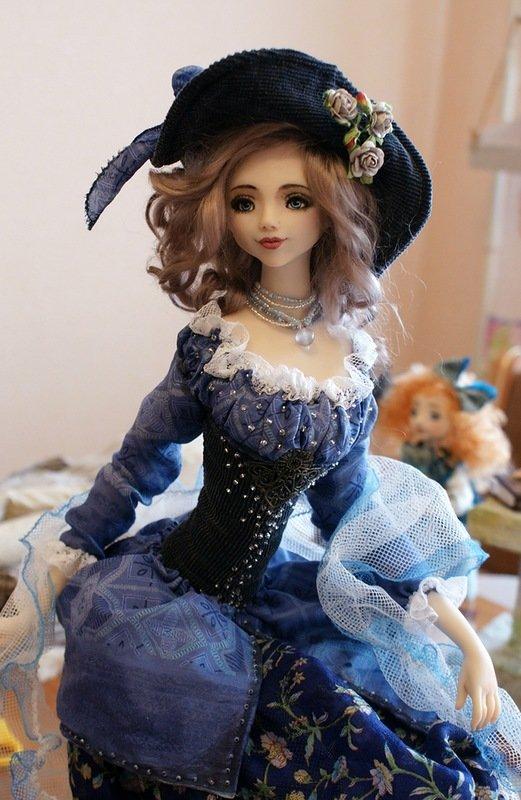 все-таки куклы из полимерной глины мастер класс фото картинка создана