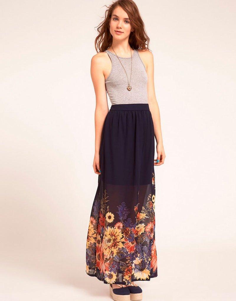Строгая модная юбка