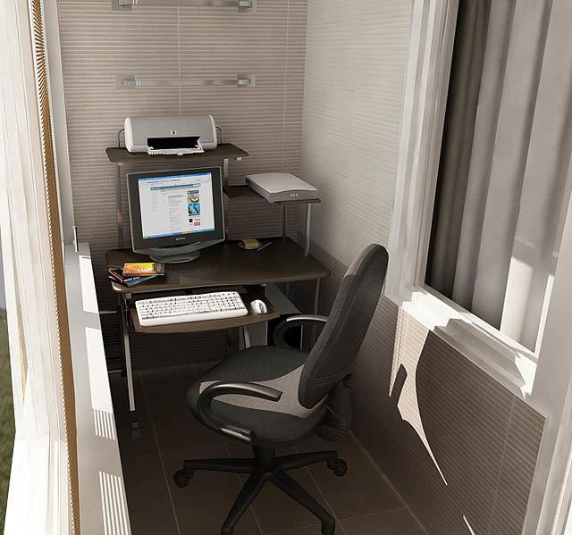 Кабинет на балконе: практичное решение или дизайнерская прихоть