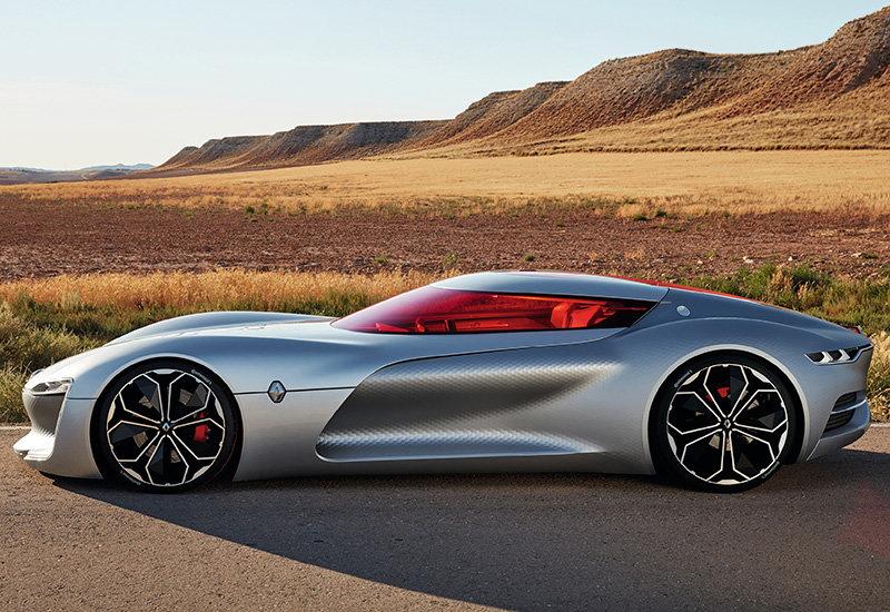 Французский концерн Renault наконец представил результат работы ведущейся с 2010 г. Концепт электромобиля Trezor это новое видение суперкаров с откидной крышей в виде панели.