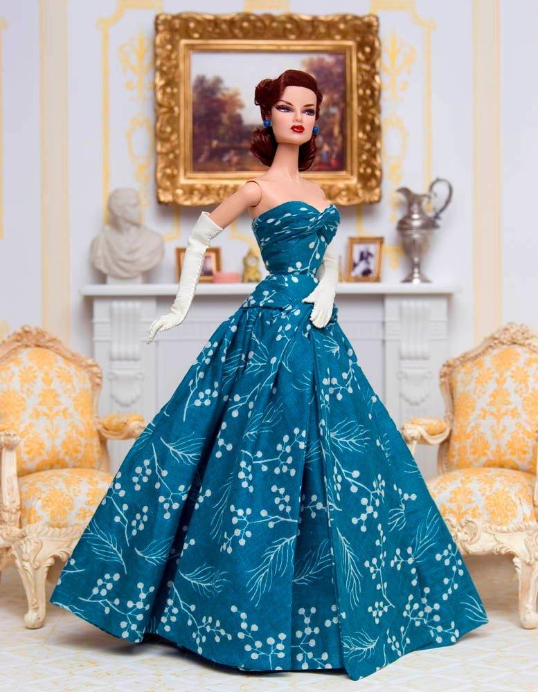 синее платье карсет