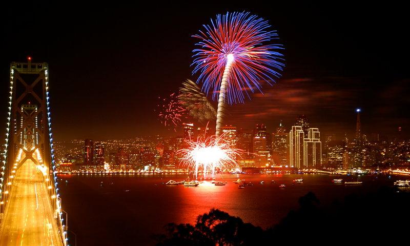 Новый Год в Сан-Франциско.