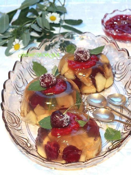 Фруктовое желе из свежих яблок и вишен пошаговый рецепт с фотографиями