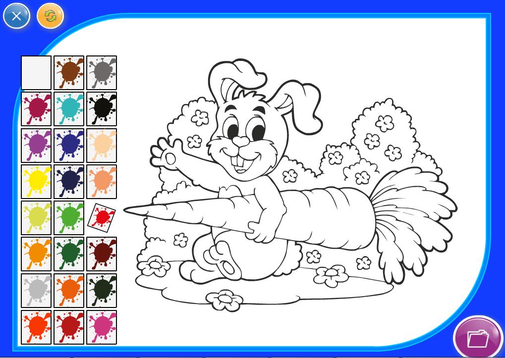 Игры раскраски двигающиеся картинки животные