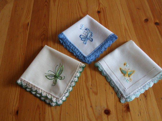 Вышивка гладью платочки