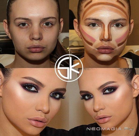 Как сделать тон лица косметикой 444