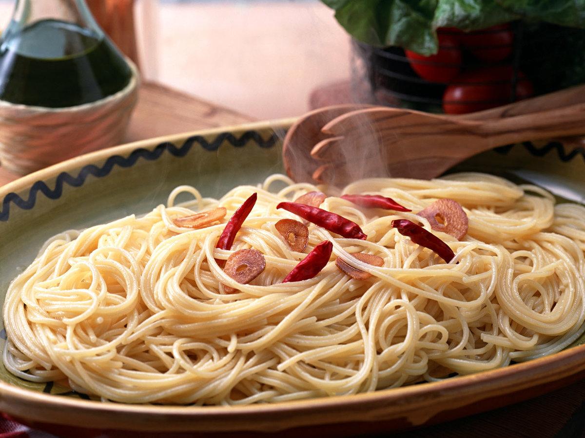 Италия открытка спагетти