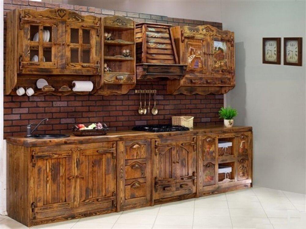 кухонный гарнитур из дерева купить