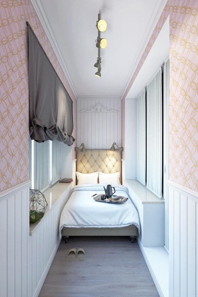Дизайн балкона с спальным местом.