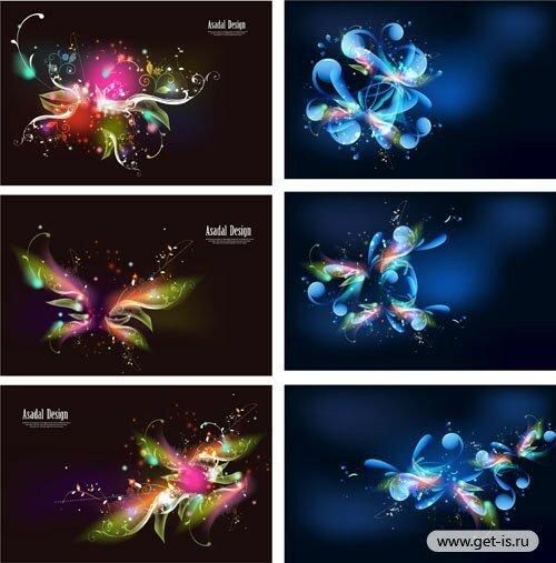 Дизайн вектор цветы абстракция