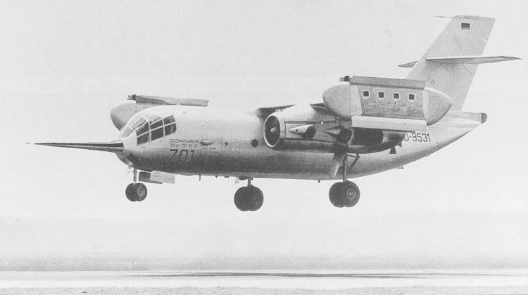 Экспериментальный транспортный самолет с ВВП Dornier Do.31