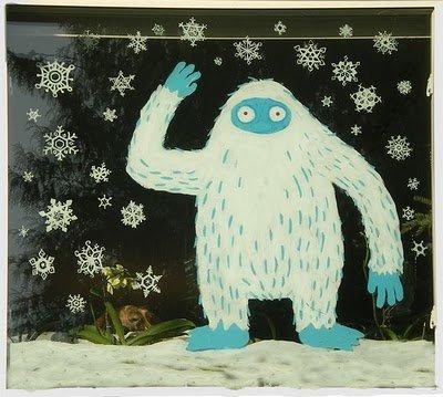 Идеи к Рождеству и Новому году: рисунки на окнах