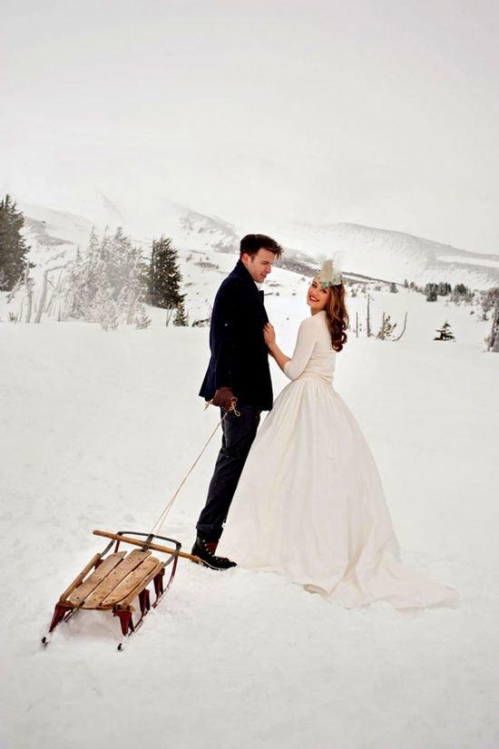Идеи свадебной фотосессии зимой