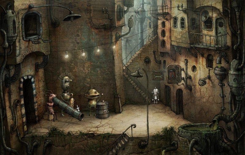 Иллюстрации для игры Machinarium
